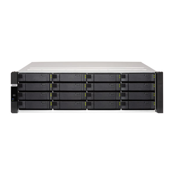 ES1686dc-2123IT-64G-US QNAP 16-Bay Rackmount NAS 2.2 GHz Intel Xeon D-2123IT 8-core 32GB ECC RAM - No HDD