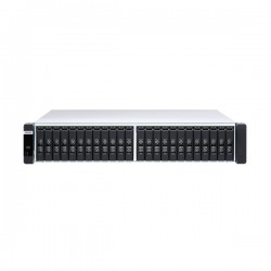 ES2486DC-2142IT-128G-US QNAP 24-Bay Rackmount NAS 1.9 GHz Intel Xeon D-2142IT 8-core Dual Controller 64GB ECC RAM - No HDD