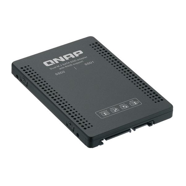 """QDA-A2MAR QNAP 2.5"""" SATA to Dual M.2 2280 SATA Drive Adapter"""