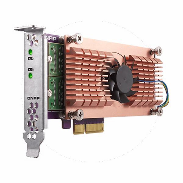 QM2-2P QNAP Dual M.2 22110/2280 PCIe SSD expansion card