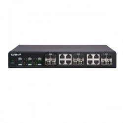 QSW-1208-8C-US QNAP 4 x 10Gbe Ports Plus 8 x 10GbE SFP/RJ45 Ports Unmanaged Switch