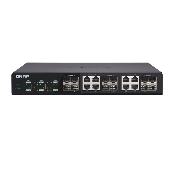 QSW-1208-8C-US QNAP 12 Port 10Gbe Unmanaged Switch