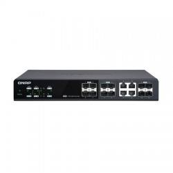 QSW-M1204-4C-US QNAP 8 x 10GbE Ports Plus 4 x 10GbE/RJ45 Combo Ports Web Managed Switch
