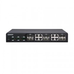 QSW-M1208-8C-US QNAP 4 x 10GbE Ports Plus 8 x 10GbE/RJ45 Combo Ports Web Managed Switch