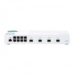 QSW-M408S-US QNAP 8 x 1GbE Ports Plus 4 x 10GbE SFP Ports Layer 2 Web Managed Switch