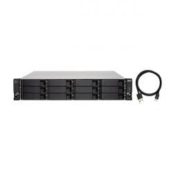 TL-R1200C-RP-US QNAP 12-Bay 2U Rackmount USB-C 3.1 Gen2 10Gbps JBOD Expansion Unit