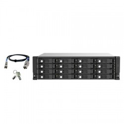 TL-R1620SEP-RP-US QNAP 16-Bay 3U Rackmount SAS 12Gb/s JBOD Expansion Unit