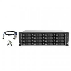 TL-R1620SEP-RP-US QNAP 16-Bay 3U Rackmount SAS 12Gb/s JBOD Expansion Unit
