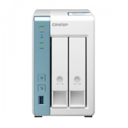 TS-231P3-2G-US QNAP 2 Bay Desktop NAS 1.7GHz Alpine AL314 4-core 2GB RAM - No HDD
