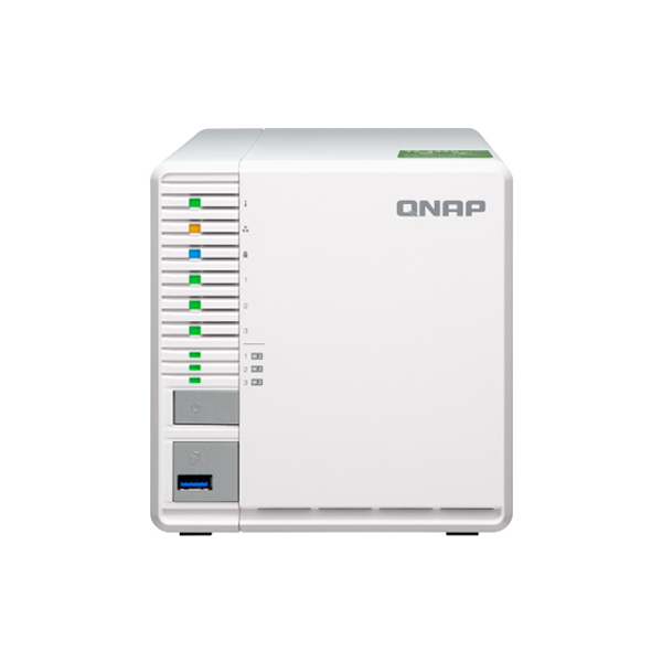 TS-332X-2G-US QNAP 3-Bay Desktop NAS 1.7 GHz Alpine AL324 Quad Core 2GB RAM - No HDD