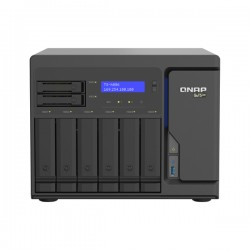 TS-H886-D1622-16G-US QNAP 8 Bay Desktop NAS 2.6GHz Intel Xeon D-1622 Quad-core 16GB ECC RAM - No HDD