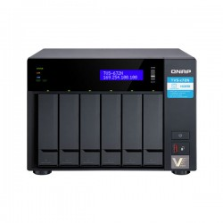 TVS-672N-i3-4G QNAP 8-Bay Desktop NAS 3.1 GHz Intel Quad Core i3-8100 4GB RAM - No HDD