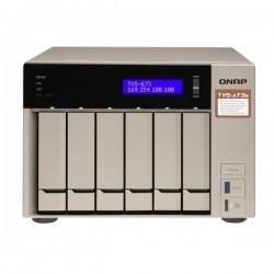 TVS-673e-4G-US QNAP 6-Bay Desktop NAS/IP-SAN 2.1 GHZ RX-421BD quad-core 4GB RAM - NO HDD