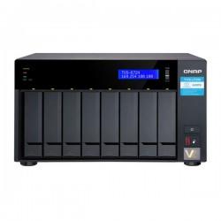 TVS-872N-i3-8G QNAP 8-Bay Desktop NAS 3.1 GHz Intel Quad Core i3-8100 8GB RAM - No HDD