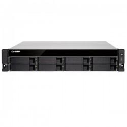 TVS-872XU-RP-i3-4G-US QNAP 8-Bay Rackmount NAS 3.6 GHz Intel Core i3-8100 4-core 4GB RAM - No HDD