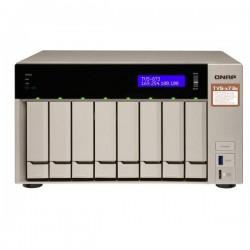 TVS-873e-4G-US QNAP 8-Bay Desktop NAS/IP-SAN 2.1 GHZ RX-421BD quad-core 4GB RAM - NO HDD