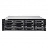 TVS-EC1680U-SAS-RP-16G-R2-US QNAP 16-Bay Rackmount NAS and iSCSI/ IP-SAN 3.5 GHZ Intel Xeon E3-1246 v3 16GB RAM - No HDD